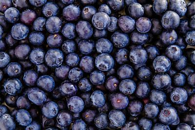 Fresh Blueberries Print by Teri Virbickis