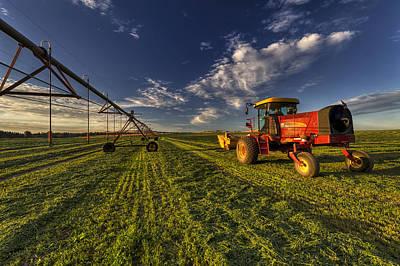 Irrigation Photograph - Fresh Cut by Mark Kiver