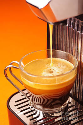 Steel Photograph - Fresh Espresso by Carlos Caetano
