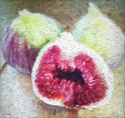 Salad Painting - Fresh Figs by Linda Woods