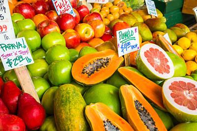 Fresh Fruit For Sale Print by Denise Lett