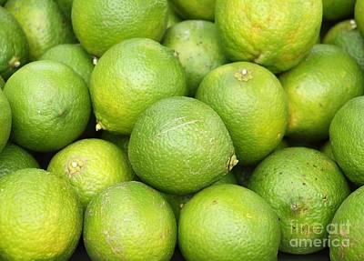 Fresh Green Lemons Print by Yali Shi