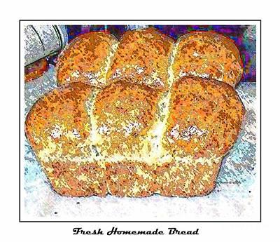 Fresh Homemade Bread 2 Print by Barbara Griffin