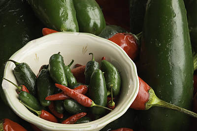 Fresh Hot Peppers Print by Thomas Young