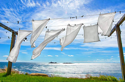 Laundry Photograph - Fresh Laundry by Donna Doherty