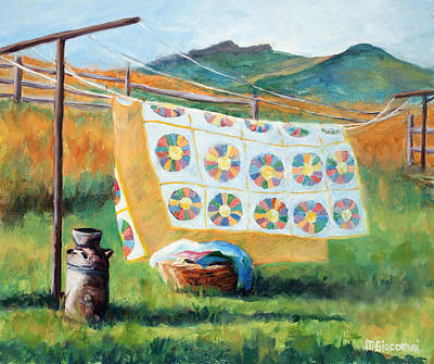 Quilts Painting - Fresh by Mary Giacomini