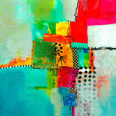 Collage Painting - Fresh Paint #5 by Jane Davies