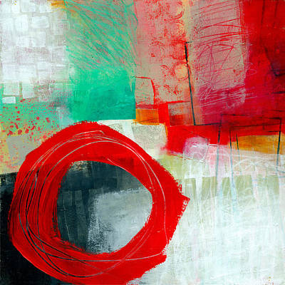 Abstract Collage Painting - Fresh Paint #6 by Jane Davies
