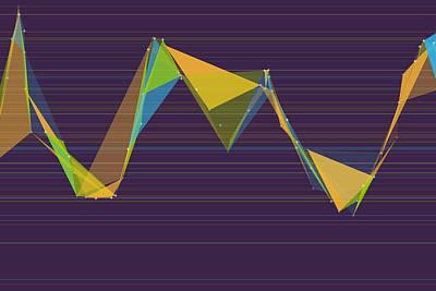 Abstract Digital Art - Fresh Polygon Triangle Graph by Frank Ramspott