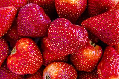 Fresh Strawberries Print by Teri Virbickis