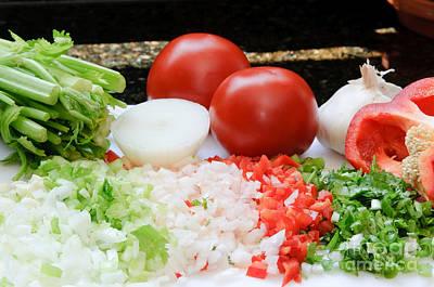 Cafes Photograph - Fresh Vegetables by Oscar Gutierrez