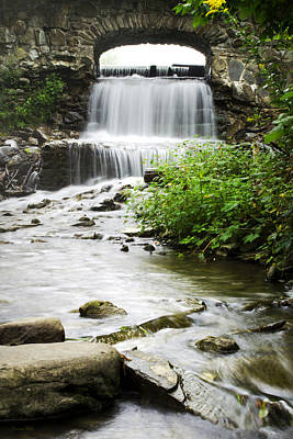 Waterfall Photograph - Fresh Water Stream Under Bridge by Christina Rollo