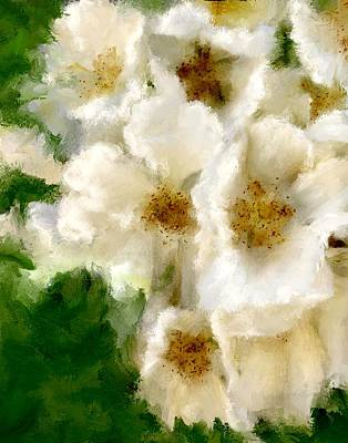 Fresh White Linen Print by Colleen Taylor
