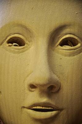 Woodcarving Photograph - Freshly Carved Face by Matt MacMillan