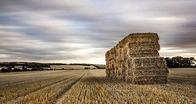 Hay Bale Photograph - Freshly Cropped by Ian Hufton
