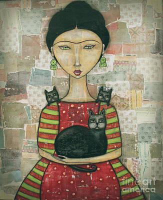 Ladies Mixed Media - Frida And Friends by Natalie Briney