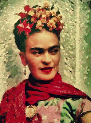 Icon Mixed Media - Frida by Janice MacLellan