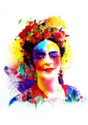 Frida Kahlo Print by Isabel Salvador