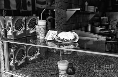 Oreo Photograph - Fried Dough At Seaside Heights Mono by John Rizzuto