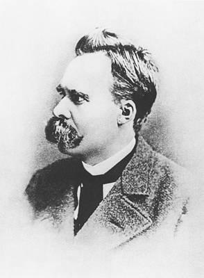 Intellect Photograph - Friedrich Wilhelm Nietzsche In 1883 by German Photographer