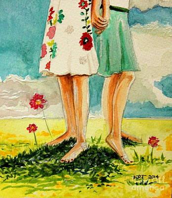 Garden Painting - Friendship by Elizabeth Robinette Tyndall
