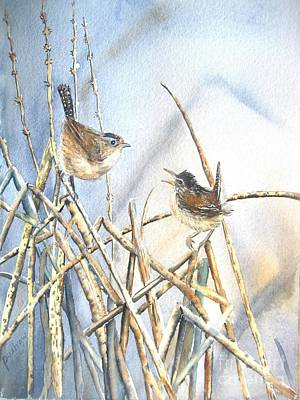 Wren Painting - Friendship by Patricia Pushaw