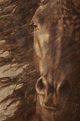 Friesian Spirit Print by Melinda Hughes-Berland