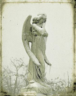 Statue Portrait Digital Art - Frigid Angel by Gothicolors Donna Snyder