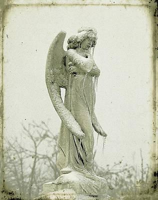 Statue Portrait Photograph - Frigid Angel by Gothicolors Donna
