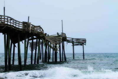 Obx Photograph - Frisco Pier 14 by Cathy Lindsey