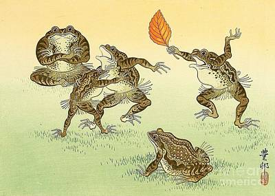 Frog Sumo Print by Pg Reproductions