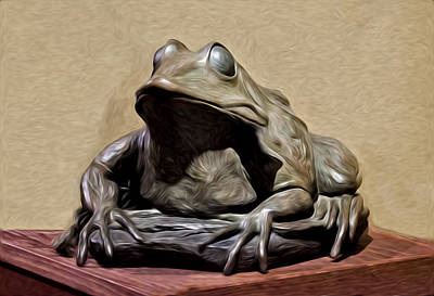 Froggy Print by David Kehrli