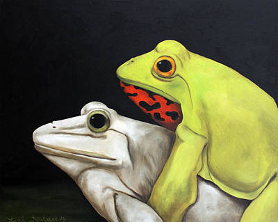 Love Making Painting - Froggy Style Edit 2 by Leah Saulnier The Painting Maniac