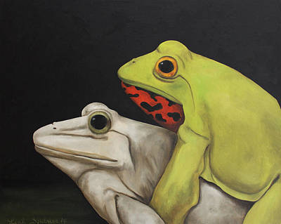Love Making Painting - Froggy Style by Leah Saulnier The Painting Maniac
