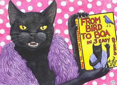 Wicked Kitty Painting - From Bird To Boa by Catherine G McElroy
