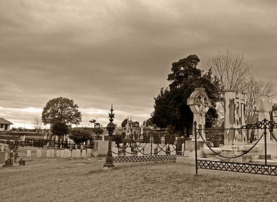 Victorian Death Digital Art - From One Headstone To Another.......shhhh by Max Mullins