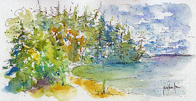 Spruce Painting - From The Breakwater by Pat Katz
