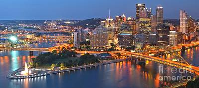 From The Fountain To Ft. Pitt Print by Adam Jewell