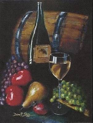 Wine Barrel Mixed Media - From The Fruit To The Glass by Diane Strain