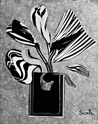 For Business Mixed Media - From The Zebras Garden by Sarah Loft