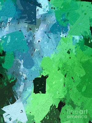 Backdrop Digital Art - From Winter Blues To Spring Greens by Heidi Smith