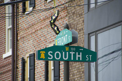 Sneakers Digital Art - Front And South Street Sign by Bill Cannon