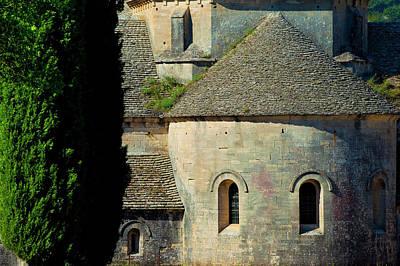 Front Detail Of Historic Abbaye De Print by Brian Jannsen