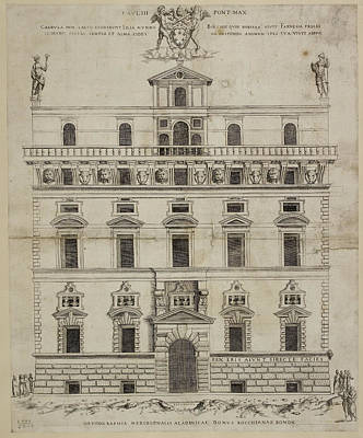 Front Elevation Of A Baroque Building In Print by British Library