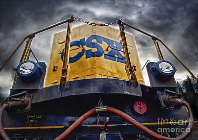 Digital Photograph - Front End Csx by Melissa Messick