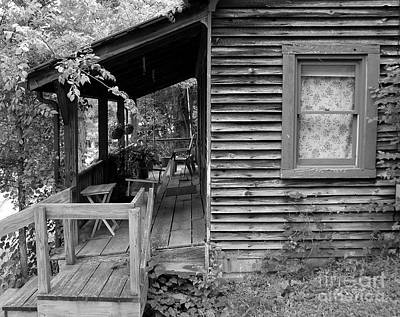 White Frame House Photograph - Front Porch by Mel Steinhauer
