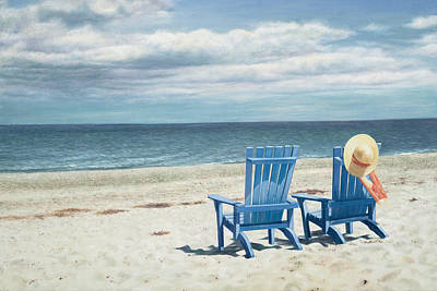 Cape Cod Beach Painting - Front Row Seating by Julia O'Malley-Keyes