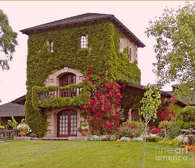 Sattui Photograph - Front View Of V. Sattui Winery by Gail Salituri