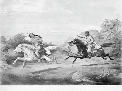 Manifest Destiny Painting - Frontiersman, 1858 by Granger