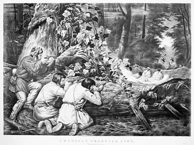 Manifest Destiny Painting - Frontiersmen, 1862 by Granger